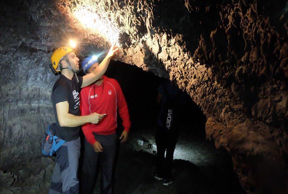 Tubo volcánico Cueva de Las Palomas