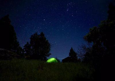 Camping y estrellas