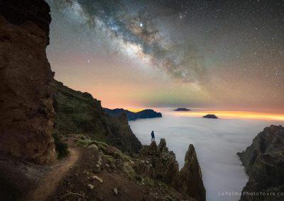 Fotografía nocturna en el Roque de Los Muchachos